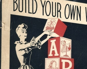 1940s WWII Build your own wardrobe booklet in PDF