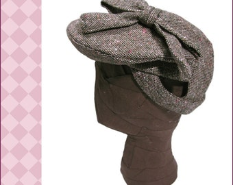 "NVL 1940s Three Hour  Beret pattern in PDF 23"" head"