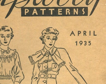 Two Du Barry pattern booklets April and August 1935 in PDF
