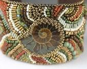 Ammonite - Bead Embroidered Cuff