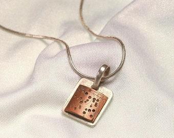 copper dot necklace