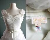48HR SALE - 50s XS SILK Chiffon Fairytale Wedding GOWN - designer Lorrie Deb