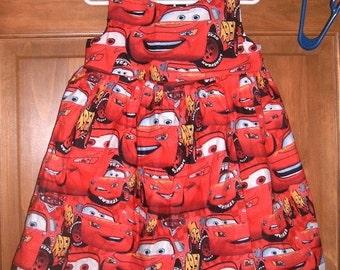 MadieBs Lightning McQueen Toddler dress size 4