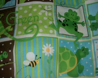 MadieBs Frog Turtle Reptile Personalized Pillowcase Standard