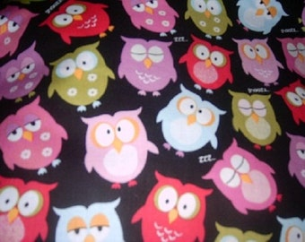 MadieBs Cute Hoot Owls Kinder Nap Pad Cover Personalized