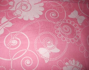 MadieBs Butterflies on Pink 100% Cotton Pillowcase with Name