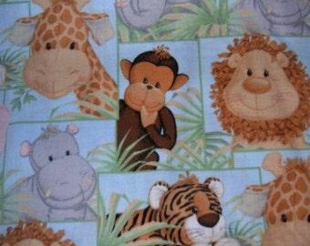 MadieBs Jungle Babies Crib Fitted Sheet Monkey Giraffe Lion Cute