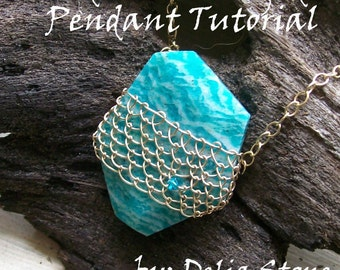 Needle Lace Caged Pendant Tutorial Instant Download