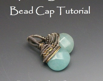 Textile Bead Cap for Briolette Beads Tutorial Instant Download