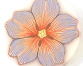 Polymer Clay Cane - Blue and Orange Flower