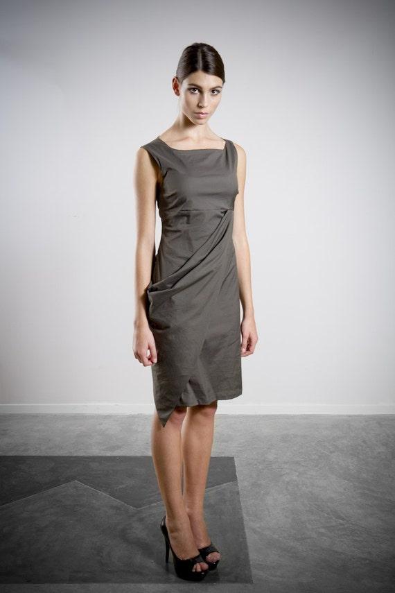 Sale Sale Sale  Asymmetrical Bias Crossover Dress Size 6