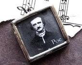 Edgar Allan Poe and the Raven pendant