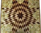 Large Flickering Lone Star on Hackberry Thin Quilt Block