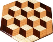 Large Tumbling Block Trivet
