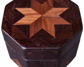 Walnut and Wenge Octagon Box