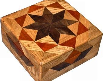 Square Oak Box