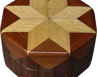 Hackberry, Cedar and Walnut Ring Box