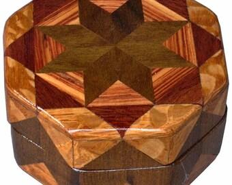 Imbuia Star Ring Box