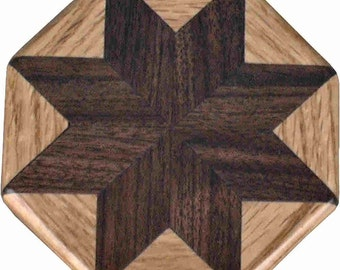 Walnut-Oak Pattern Weight