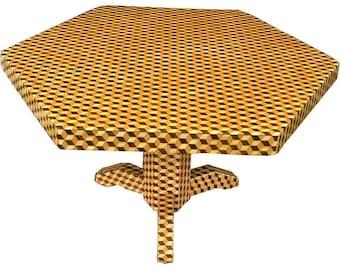 Large Tumbling Block Table