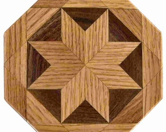 oak-Walnut Trivet
