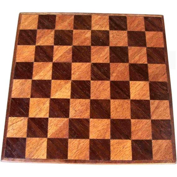 Wenge and Philippine Mahogany Small Chess Board