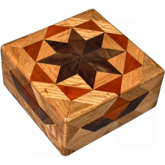 Square Oak Box