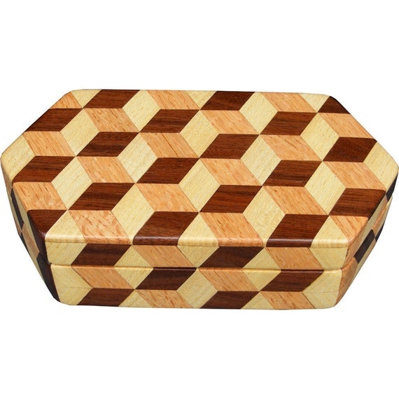 Small Hexagon Tumbling Block Box
