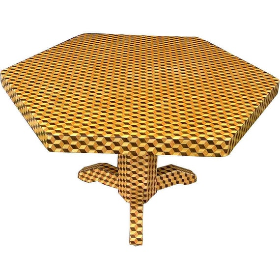 Large Tumbling Block Table