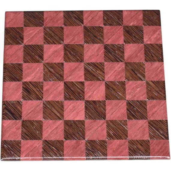 Purpleheart and Wenge Small Chess Board