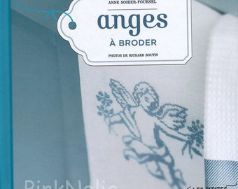 Angels French Cross Stitch n Hand Embroidery  Mini Book