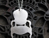 louis CHAIR sterling silver necklace