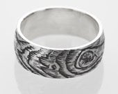 woodgrain ring PLYWOOD faux bois sterling silver Made to Order
