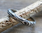 wood grain ring THINNEST PLYWOOD sterling woodland Made to Order