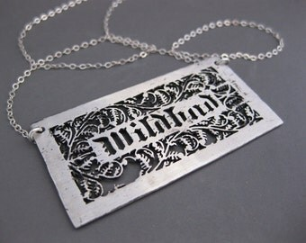 WILDBAD sterling silver adjective necklace
