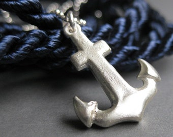 solid silver ANCHOR necklace
