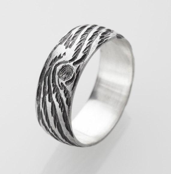 woodgrain ring DRIFTWOOD sterling size 8