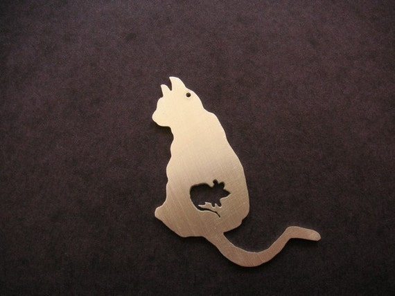 ATE SERIES cat mouse FOOD CHAIN PENDANT