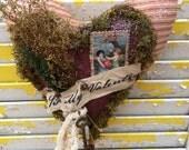 Primitive Valentine Heart Hanger-