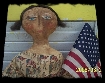 Primitive Americana Liberty Doll