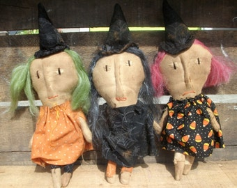 Primitive Halloween Witches of Eastwick