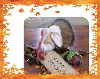 Primitive Thanksgiving Turkey Small