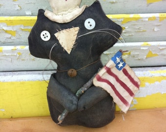 Primitive Doll, Cat,  Primitive Decor