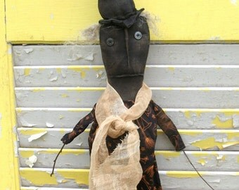 Primitive Halloween Stick Witch