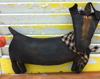 Primitive Halloween  Percy the Treat Hound-