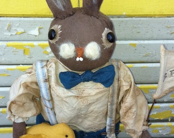 Primitive Doll, Rabbit, Spring Bunny Hal