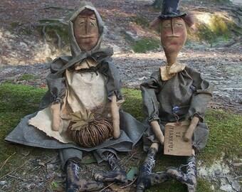 Primitive Thanksgiving Pilgrims Set-