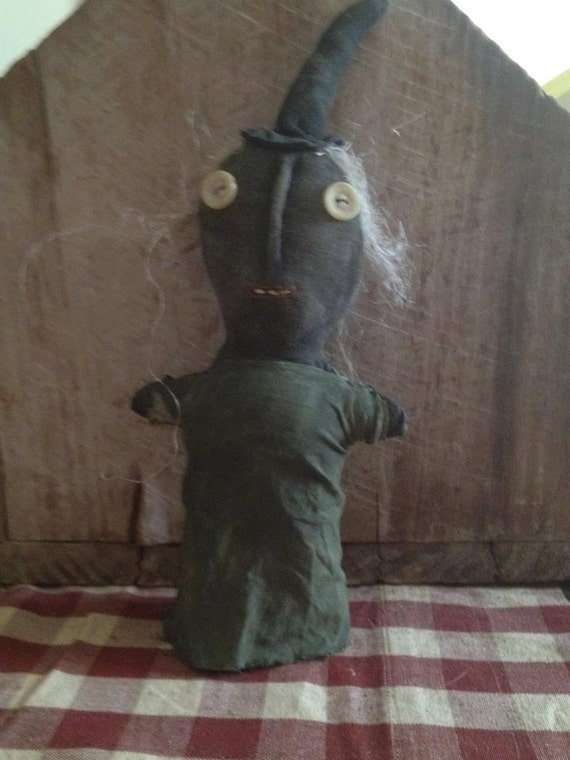 Primitive Halloween Witch Stump Doll- Ready to ship