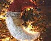 Primitive Folk Art Christmas Crescent Moon Santa Ornies Digital PDF Pattern