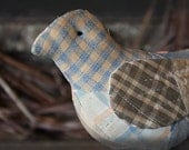 Primitive Vintage Feedsack Bird Make Do Pin Keep